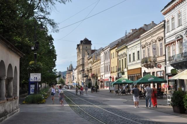 Die beruhigte, reizende Altstadt von Košice.