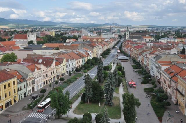 Blick auf die Altstadt Prešovs.