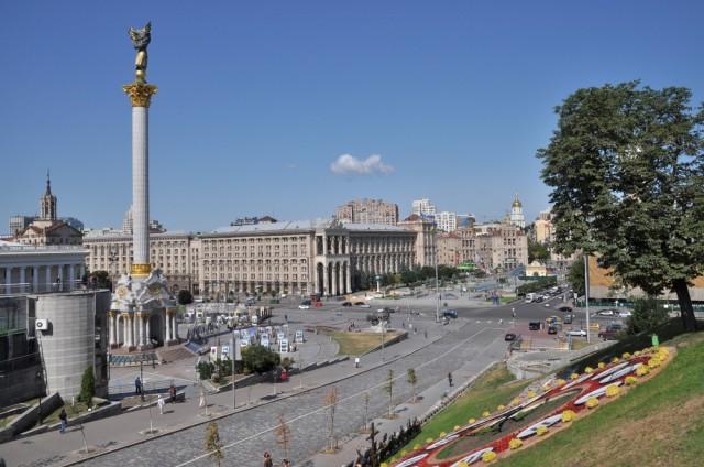 Der Verkehrsknotenpunkt Maidan wirkt sehr beschaulich