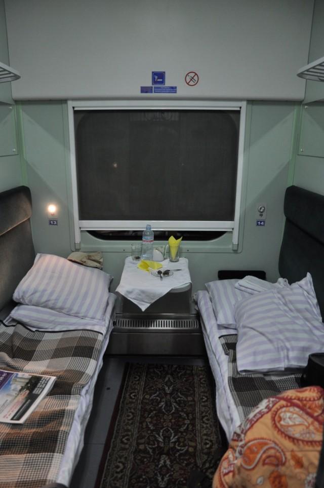 Die bisher komfortabelste Nachtzugreise im Osten, diesmal im Schlafwagen