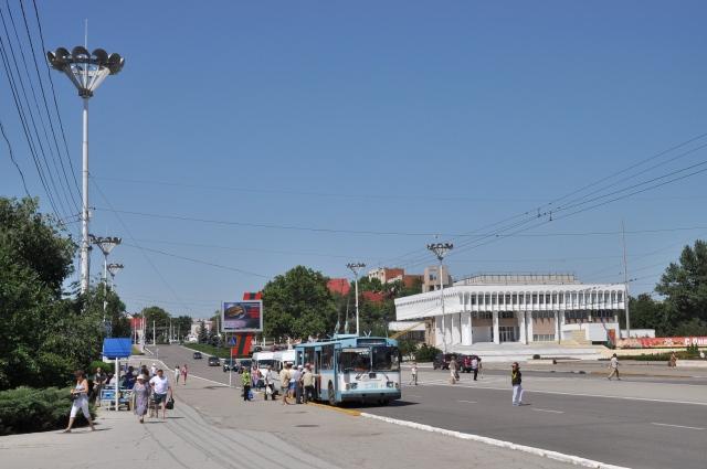 Aufgeräumt und ruhig wirkt die Hauptstadt Tiraspol, hier am zentralen Platz in der Stadtmitte