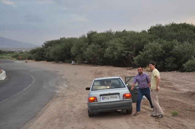Kurzer Fotohalt unserer Mitfahrgelegenheit in die nächst größere Stadt Jolla