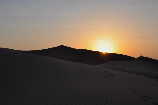 Umgebung von Yard in der Wüste