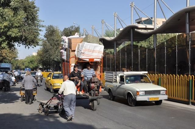 Straßenszene in Tehran