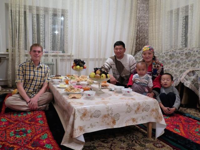 Angekommen: erster Abend in meiner kirgisischen Gastfamilie