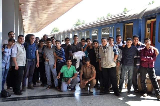 Abschiedsbild mit der Schulklasse nach Ankunft in Mashhad