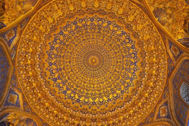 Gewölbemalerei in einer Moschee