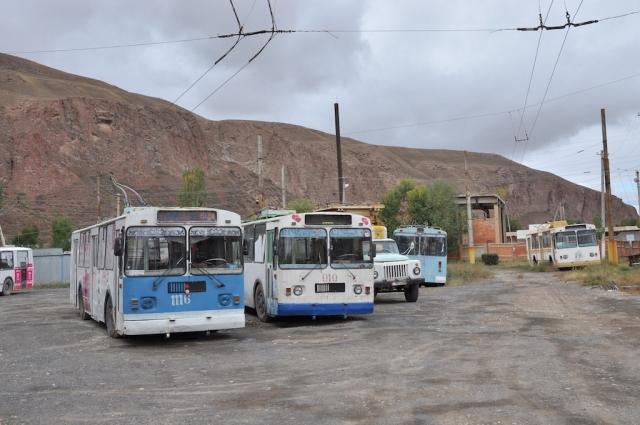 In Naryn, am Ende der Welt oder Kirgistan, gibt es sogar einen werktags verkehrenden Trolleybus