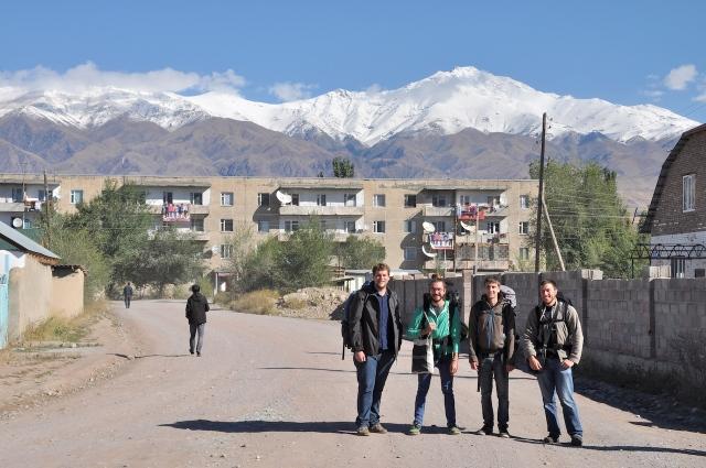 Auf dem Weg zum Basar, um irgendeine Transportmöglichkeit in Erfahrung zu bringen