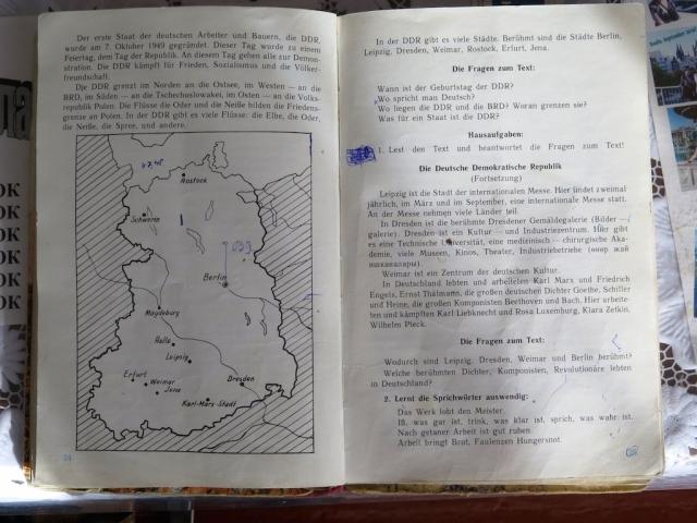 Deutschlehrbuch aus dem Jahr 1985