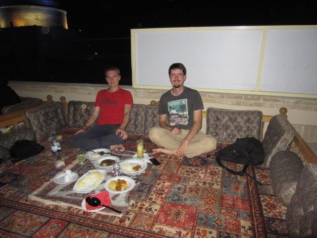 Martins Geburtstagsessen in Yazd. @MS